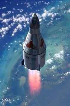 Proposed design of Space Adventures' suborbital vehicle in space$110,000