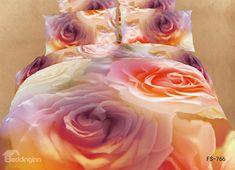 New Arrival Charming Orange Roses Print Bedding Sets Bed Sets, Bed Sheet Sets, 3d Bedding Sets, Bed Comforter Sets, Queen Size Duvet Covers, Duvet Cover Sets, Linen Bedroom, Linen Bedding, Bed Linen