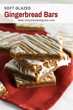 christmas holidays These Gingerbread Bars are easy, soft and chewy and glazed with a sweet vanilla glaze. They are a fun recipe for family to make around the holidays and christmas. Baking Recipes, Cookie Recipes, Dessert Recipes, Pumpkin Recipes, Drink Recipes, Just Desserts, Delicious Desserts, Yummy Food, Holiday Baking
