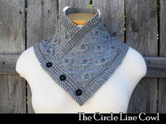 The Circle Line Cowl knitting pattern by AuntJanetsDesigns on Etsy