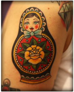 Russian nesting doll tattoo