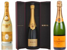 Champagnes - Cristal, Krug and Veuve Clicquot