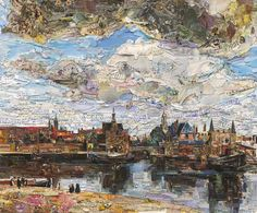 Vik Muniz   View of Delft (Postcards from Nowhere) (2015), Available for Sale   Artsy