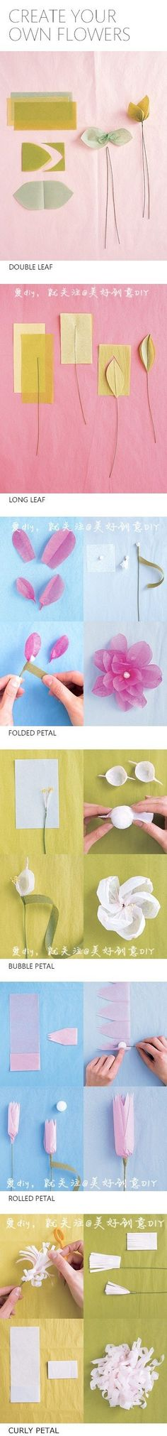 DIY All Kinds of Beautiful Flowers | FabDIY