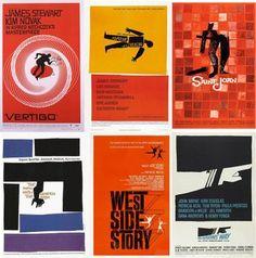 Saul Bass. Algunos carteles de cine que se podrán ver en la expo del círculo de Bellas Artes, realizados por el diseñador neoyorquino dedicado a la publicidad y el cine