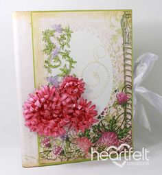 Heartfelt Creations   Pink Enchanted Mums Flip Fold Album