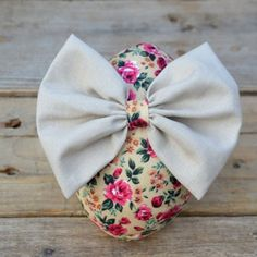 Fabric Easter Egg with Bow