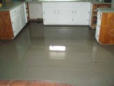 concrete over plywood floor -