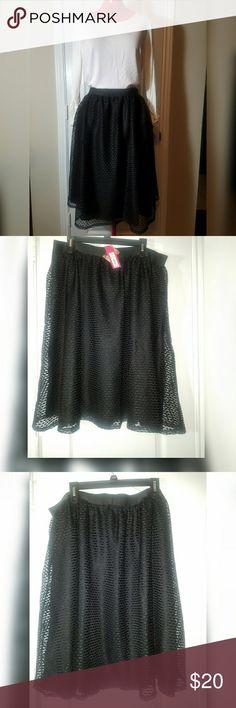 "New, Skirt, Backstage Beauty Collection, Lace, XXL New Xhilaration Backstage Beauty Collection Lace overlay Skirt, 25"" long Xhilaration Skirts"