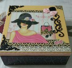 Shabby, Decoupage Box, Pretty Box, Vintage Box, Box Packaging, Box Art, Chalk Paint, Jewelry Box, Craft Projects