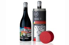 Wine Bottles Packaged Inside Graffiti Cans