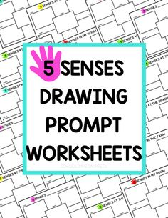 Draw your sensory experience! These 5 senses worksheets are perfect for preschoolers, Kindergarteners, and 1st graders who may not have the words to express what they see, hear, touch, taste, and smell... so draw instead! Name Activities, Preschool Learning Activities, Play Based Learning, Hands On Activities, Preschool Kindergarten, 5 Senses Worksheet, 5 Senses Preschool, Drawing Prompt, Little Learners