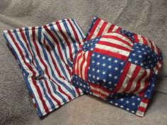 Patriotic Microwave Bowl Potholders; Red, White and Blue Microwave Bowl Cozies; Set of Two Americana Bowl Cozies by BoothValleyHomemades on Etsy