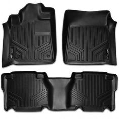 Custom Fit 3D Rubber Floor Mats for Toyota Tundra Crew Max (2007-2011) Complete Set