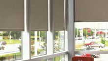 Light Blackout Roller Shades in many different styles and colors at North Solar Screen, with fully motorized blackout shade options available as well as crank operation, cordless shade products.