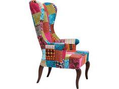 Fotel Wing Patchwork II — Fotele Kare Design — sfmeble.pl