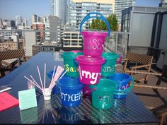 Instead of cups, drink out of buckets! Not so classy, but who cares?! #BachelorettePartyIdeas