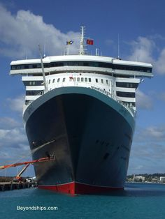 Queen Mary 2 in Barbados Rms Queen Mary 2, Cunard Cruise Line, Cunard Ships, Motor Boats, Sailing, Ocean, Tours, Cruise Ships, Postcards