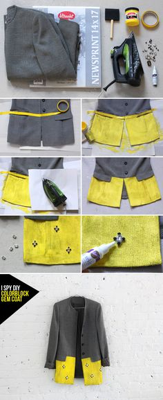 Take a look at the following 15 Fashionable DIY Clothes. Make your own pair of shorts or jeans, a trendy skirt or a shirt, or maybe update your old coat.