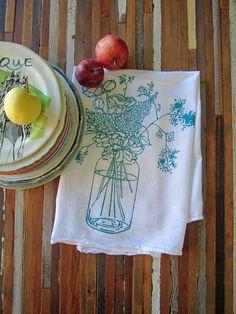 Mason Jar Flour Sack Towel