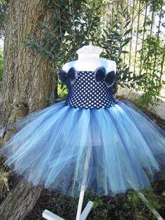 Tutu Dress - Navy & Light Blue