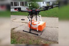 Orange Leaf Frozen Yogurt Celebrates First Drone Delivery To Hop - Northern Michigan's News Leader