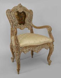 French Louis XVi style, carved giltwood Salon set, Louis XV style ...
