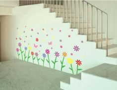 Bloemenmuur decoratiesticker