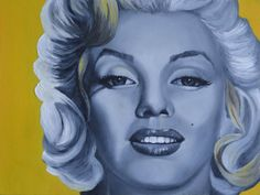 Yellow Curls Marilyn Monroe Close Up Oil Painting. | This image first pinned to Marilyn Monroe Art board, here: http://pinterest.com/fairbanksgrafix/marilyn-monroe-art/ || #Art #MarilynMonroe