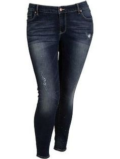 Plus Size Distressed Jeggings   Old Navy