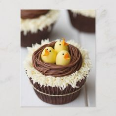 Cutest Easter Cupcakes Ever. Whether you are hosting or looking for ideas and inspiration to bring dessert for Easter, here is a collection of Cupcakes! Holiday Treats, Holiday Recipes, Mini Cakes, Cupcake Cakes, Cup Cakes, Oster Cupcakes, Gourmet Cupcakes, Delicious Cupcakes, Yummy Cakes