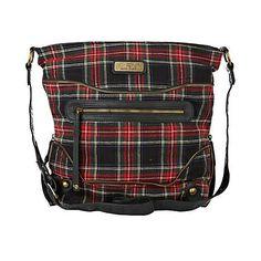 red tartan check zip messenger bag - cross body bags - bags / purses - women - River Island