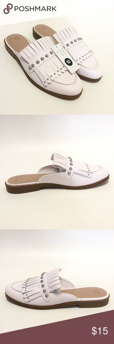 979641d3071 Shop Women s a new day White Silver size 10 Mules   Clogs at a discounted  price at Poshmark. Description  A New Day Karoline Low Heel Backless Loafer  Mules ...