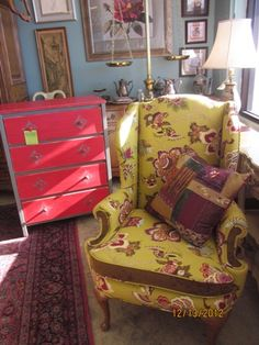 Fantastic Makeovers! A Better Version Of An Old Chair And Dresser!