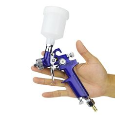 12.89$  Watch now - http://aliynx.shopchina.info/go.php?t=32782461700 - Hot Sale 0.8MM 1.0MM Nozzle H-2000 Professional HVLP Spray Gun Mini Air Paint Spray Guns Airbrush For Painting Car Aerograph 12.89$ #buyininternet