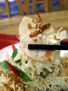 Gỏi Gà  Chicken breast salad made with white cabbage, roasted shallots & peanuts
