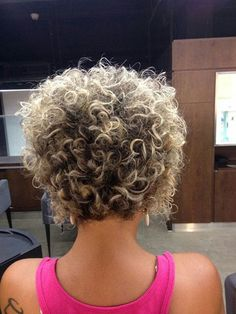 Popular Short Curly Hairstyles 2018 – 2019 - The UnderCut : Short-Curly-Hair-Back-View Popular Short Curly Hairstyles 2018 – 2019 Haircuts For Curly Hair, Curly Hair Cuts, Curly Bob Hairstyles, Short Curly Hair, Hairstyles With Bangs, Short Hair Cuts, Hairstyles 2018, Curly Hair Styles, Hairstyle Short
