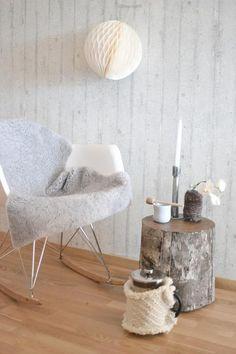 mecedora #eames, madera, tejido... invierno!!
