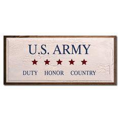 US Army Duty Honor Country