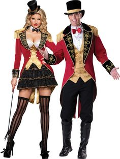 Ringmaster Couples Costume, #Halloweencostumescouples available at Teezerscostumes.com