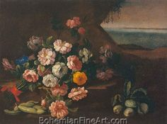 Giovanni Stanchi, Vase of Flowers Fine Art Reproduction Oil Painting