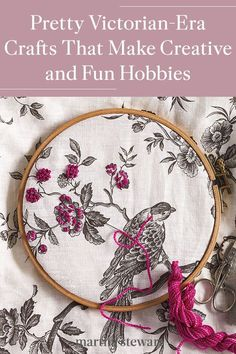 The Victorians were famously sentimental and enjoyed beautiful handcrafted crafts and hobbies to occupy themselves. Try your hand at one of these handicrafts from another era like embroidery, flower-pressing, or letter writing with wax seals and Dresden foil die cuts. #marthastewart #crafts #diyideas #easycrafts #tutorials #hobby Crafty Hobbies, Fun Hobbies, Hobbies And Crafts, New Year's Crafts, Crafts For Girls, Hobbies For Adults, Hobbies To Take Up, Chicken Scratch Embroidery, Girl Scout Crafts