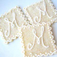 Wedding Cookies, Wedding Favors, Wedding Ideas, Monogram Cookies, Bridal Shower Cakes, Bridal Showers, Sugar Cookies, Iced Cookies, Custom Cookies