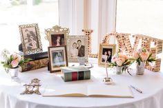 Guest Book & Photo Table | Vintage Villas | Tara Welch Photography