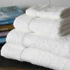 Our top of the range contract terry towel for the superior establishment. Best seller, available only in white. King of Cotton. The best towels money can buy. Hotel Towels, Terry Towel, Five Star Hotel, Bed And Breakfast, Arms, Essentials, Luxury, Towel, Bath Mats & Rugs