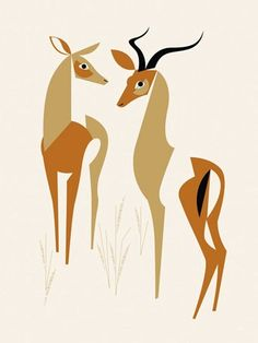 """""""Wild Impala"""" canvas wall art sizes 10x14 up to 45x60 by Eleanor Grosch for GreenBox Art + Culture $59"""