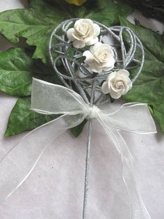 Silver wedding Wand #flower girl ... Wedding ideas for brides, grooms, parents & planners ... https://itunes.apple.com/us/app/the-gold-wedding-planner/id498112599?ls=1=8 … plus how to organise an entire wedding, without overspending ♥ The Gold Wedding Planner iPhone App ♥