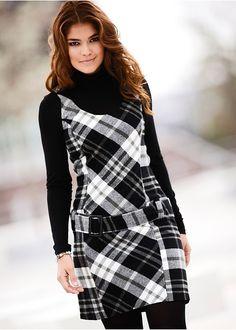 Tartan pinafore dress | Dresses | Plus size clothing | bonprix