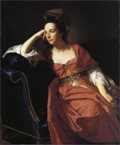 Mrs Thomas Gage, 1771  John Singleton Copley.  Ennui personified - but what an amazing dress!