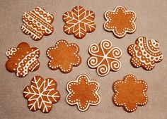Pretty gingerbread biscuits
